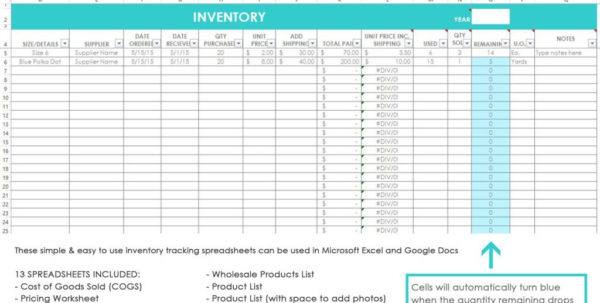 Salon Inventory Spreadsheet For Product Inventory Spreadsheet Sample Salon Tracking Worksheets