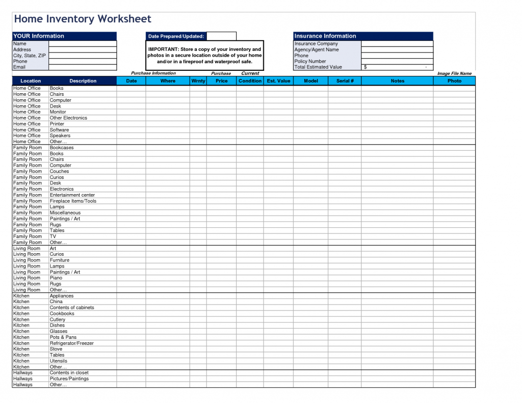 Salon Inventory Spreadsheet Pertaining To Home Inventory Spreadsheet Sheet Template Optional Including Monoday