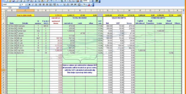 Salon Spreadsheet With Regard To 9  Excel Spreadsheet For Accounting Templates  Gospel Connoisseur