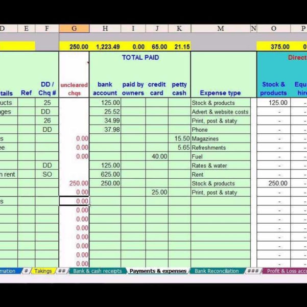 Sample Accounting Spreadsheet For Small Business Pertaining To Simple Accounting Spreadsheet For Small Business  Spreadsheets For