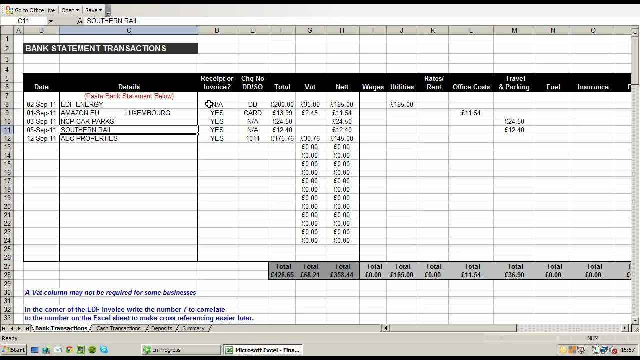 Sample Excel Spreadsheet For Small Business For Sample Of Excel Spreadsheet Business Expenses And Small Business