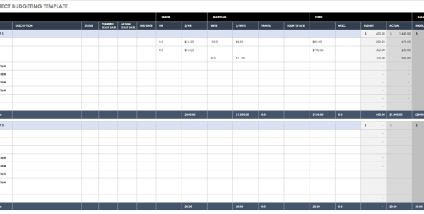 Sample Expense Tracking Spreadsheet Pertaining To All The Best Business Budget Templates  Smartsheet