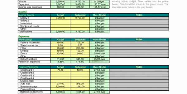 Sample Home Budget Spreadsheet Intended For Sample Home Budget Spreadsheet Inspirational Bud Template Excel