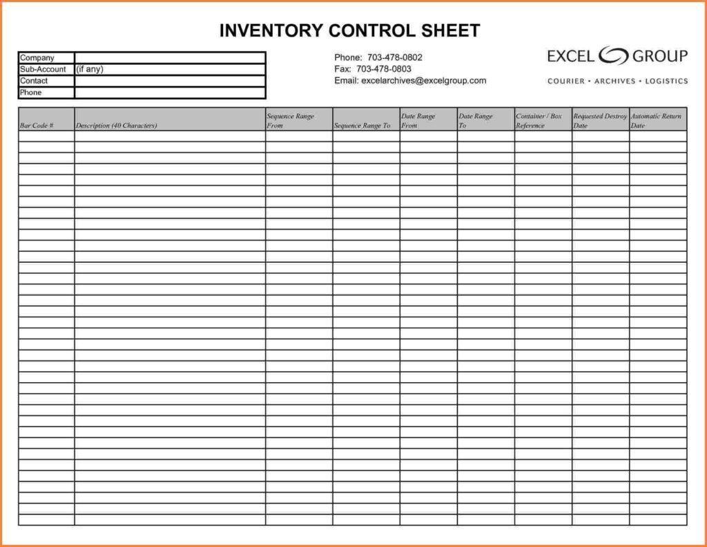 Sample Of Inventory Spreadsheet In Excel For Sample Of Excel Worksheet And 10 Inventory Spreadsheet Examples