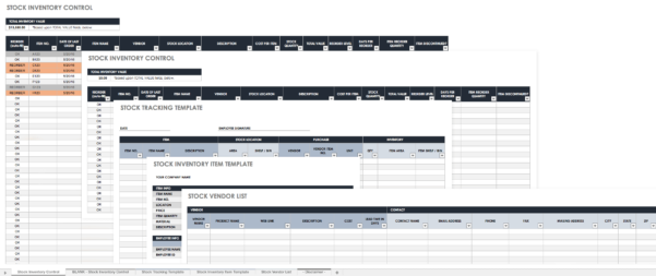 Sample Product Inventory Spreadsheet For Free Excel Inventory Templates