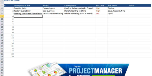 Sample Project Management Spreadsheet Pertaining To Guide To Excel Project Management  Projectmanager