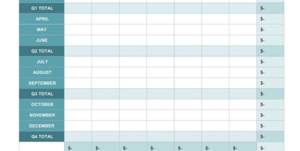 Sample Spreadsheet For Monthly Expenses Regarding Monthly Bills Excel Template And Free Expense Report Templates