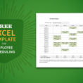 Sample Staff Schedule Spreadsheet Throughout Free Excel Template For Employee Scheduling  When I Work
