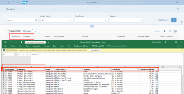 Sap Calculation Spreadsheet Throughout New Excel Export Functionality Available  Sap Blogs