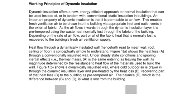 Sap Calculation Spreadsheet Throughout Pdf Application Of Energyflo® Dynamic Insulation In Sap Appendix Q