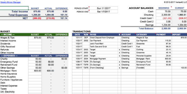 Savings Account Spreadsheet For 15 Easytouse Budget Templates  Gobankingrates