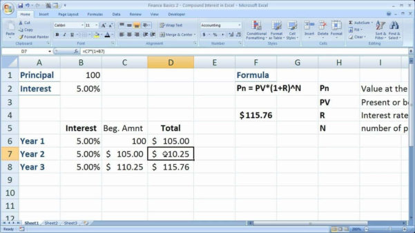 Savings Account Spreadsheet Within Daily Compound Interest Calculator Savings Account And Compound