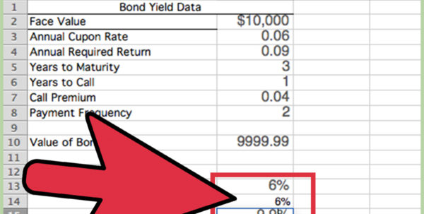 Savings Bond Spreadsheet Regarding 3 Ways To Calculate Bond Value In Excel  Wikihow
