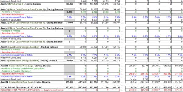 Savings Calculator Spreadsheet Inside Example Of Annuity Calculator Spreadsheet Calculate An Annual