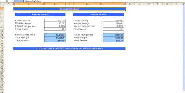 Savings Calculator Spreadsheet Within Spreadsheet Excel Savings Calculator Selo L Ink Co Example Of