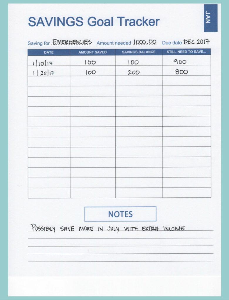 Savings Goal Spreadsheet For 29 Images Of Saving Money Printable Worksheet Template  Helmettown