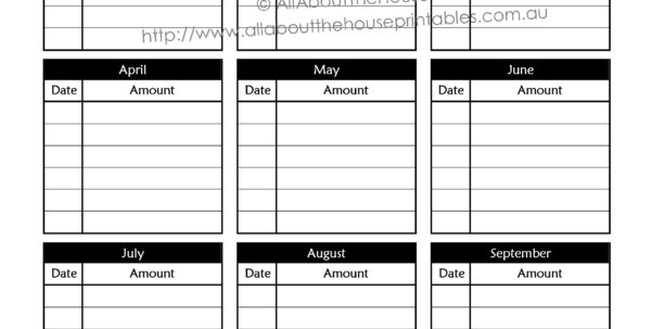 Savings Goal Spreadsheet Intended For Upcoming Expenses  Allaboutthehouse Printables
