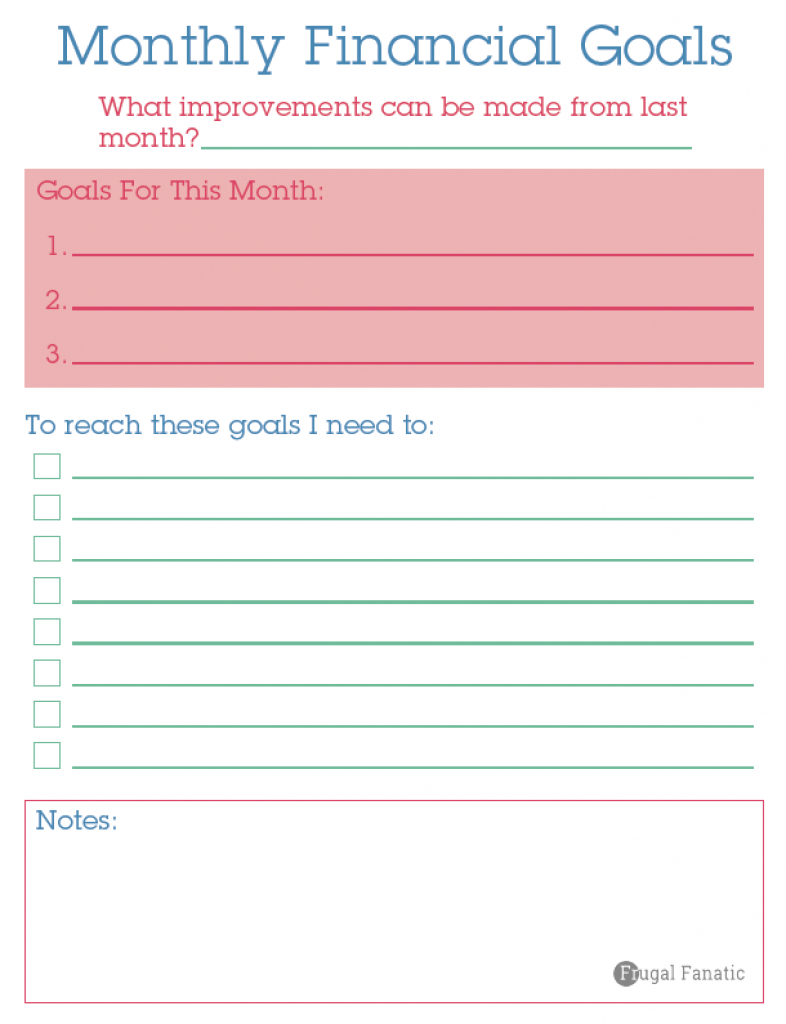 Savings Goal Spreadsheet Throughout Free 2016 Budget Binder  Gain Control Of Your Finances
