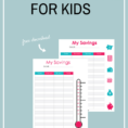 Savings Goal Tracker Spreadsheet Pertaining To How To Create Savings Goals For Kids   Free Savings Tracker  Frugal