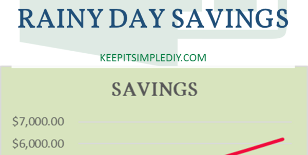 Savings Spreadsheet With Regard To Using Your Excel Spreadsheet To Build Rainy Day Savings  Keep It