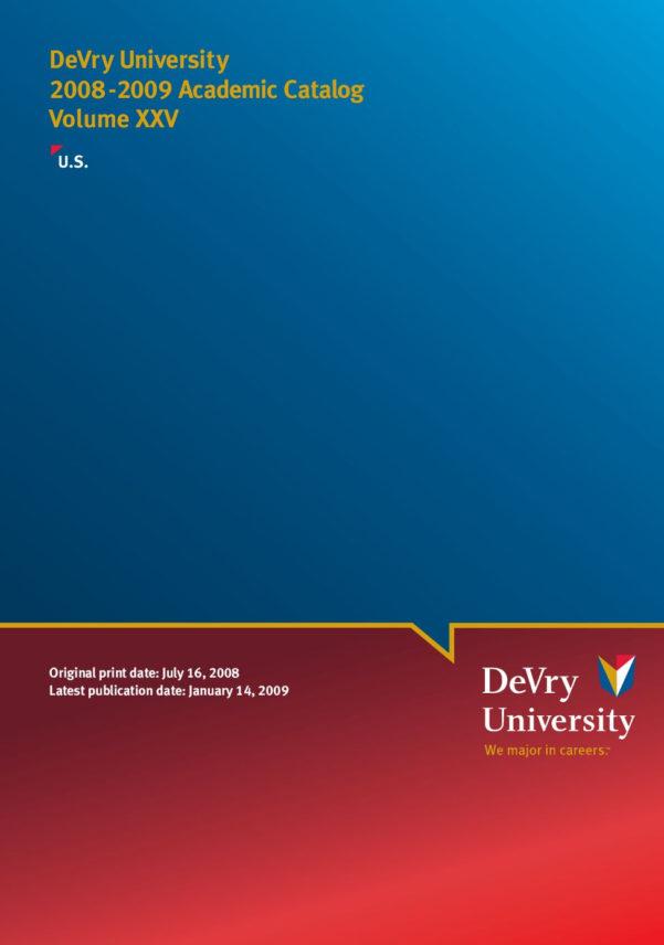 Sawgrass Pricing Spreadsheet Regarding Devry University 20082009 Academic Catalog Volumejudith