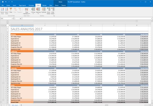 Scaffolding Excel Spreadsheet Pertaining To Wpf Spreadsheet For Visual Studio  Excel Inspired Spreadsheet