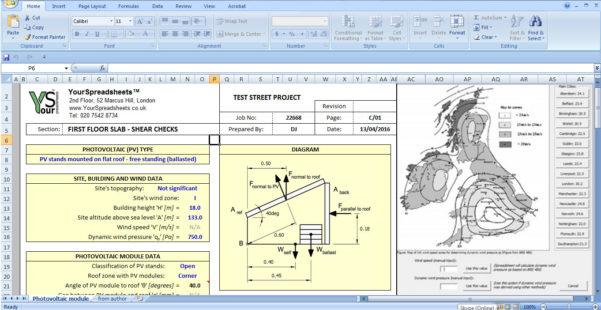 Scaffolding Excel Spreadsheet With Regard To Solar Energy: Solar Energy Calculator Xls