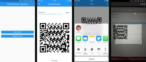Scan Qr Code To Spreadsheet Inside Building Flutter Qr Code Generator, Scanner, And Sharing App