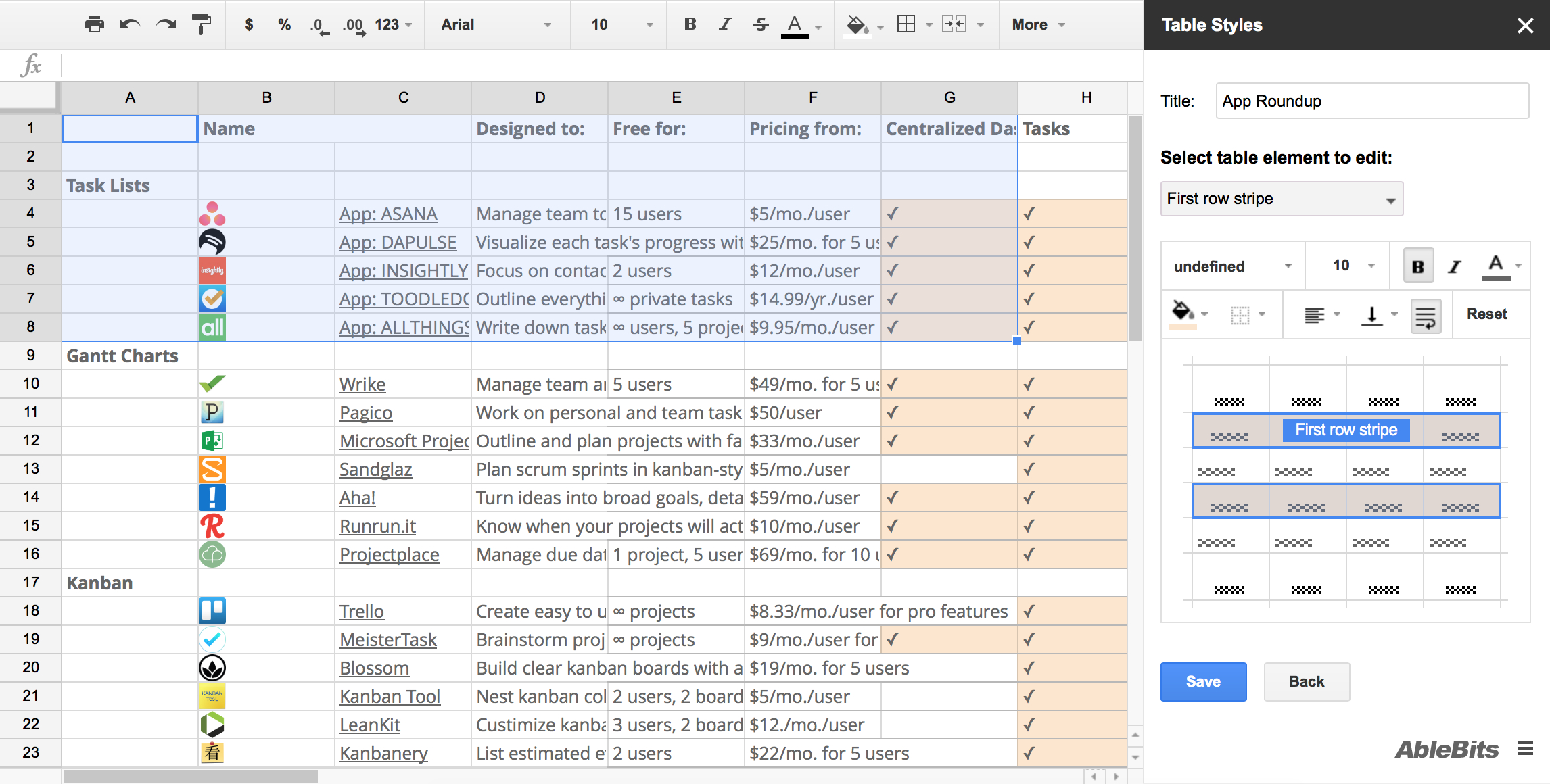 Schedule Spreadsheet Google With Regard To 50 Google Sheets Addons To Supercharge Your Spreadsheets  The