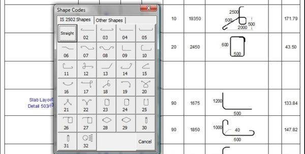 Schedule Spreadsheet Inside Bar Bending Schedule Spreadsheet To Is 2502