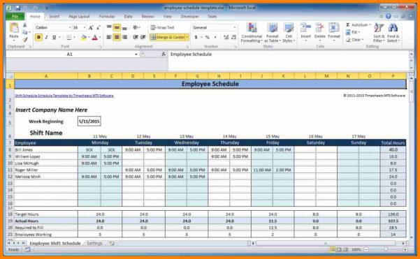 Schedule Spreadsheet Intended For 8  Employee Schedule Spreadsheet  This Is Charlietrotter