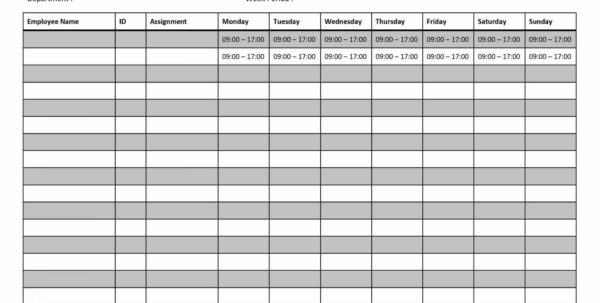 Schedule Spreadsheet Intended For Employee Work Schedule Spreadsheet  Awal Mula