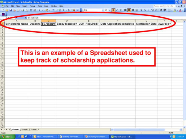 Scholarship Spreadsheet Throughout Meridian Career Institute  Ppt Download