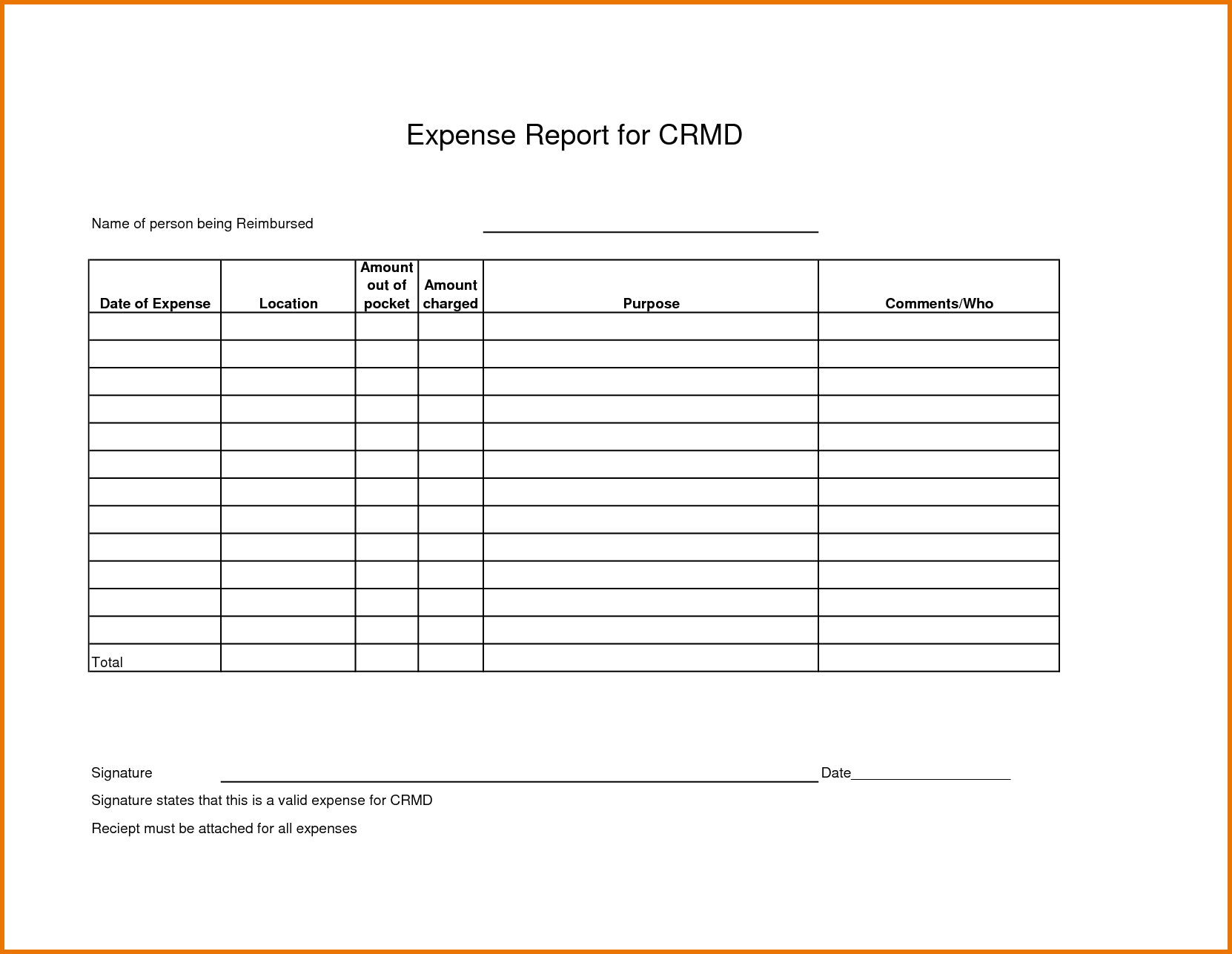 Scope Of Work Spreadsheet Within Expense Report Spreadsheet Template And Expense Report Templates