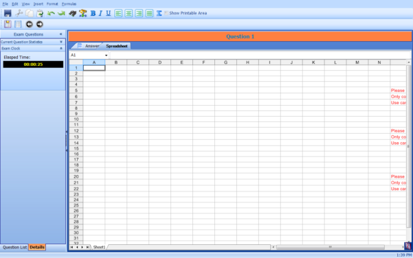 Secure Spreadsheet Within Saica  Taking A Practice Or Generic Exams  Poweredkayako Help