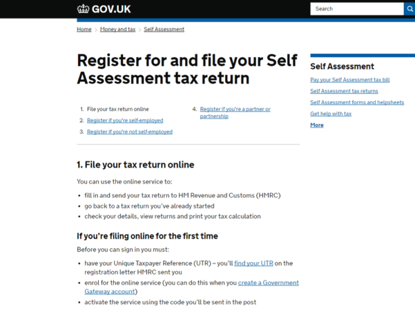 Self Assessment Tax Return Spreadsheet Template Throughout How To File Tax Return Online In The Uk  Tech Advisor