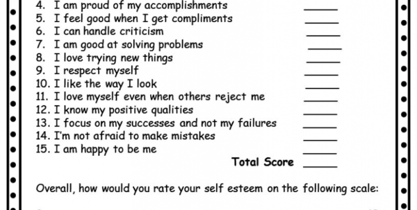 Self Build Spreadsheet Template For Building Self Esteem In Teenagers Worksheets Spreadsheet Template