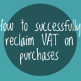 Self Build Vat Reclaim Spreadsheet Pertaining To How To Successfully Reclaim Vat On Purchases