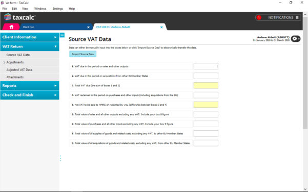 Self Build Vat Reclaim Spreadsheet Regarding Vat Filer  Taxcalc