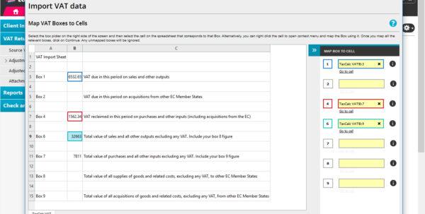 Self Build Vat Reclaim Spreadsheet Within Vat Filer  Taxcalc