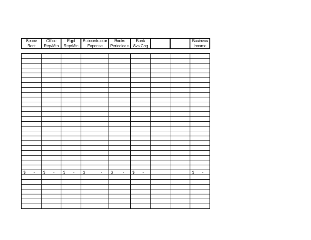 Self Employed Expense Spreadsheet With Regard To Schedule C Expenses Spreadsheet And Printables Self Employment In E