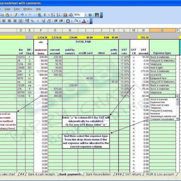 Self Employed Record Keeping Spreadsheet In Self Employed Bookkeeping Spreadsheet Sample Worksheets
