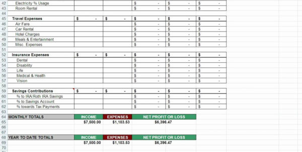 Self Employed Tax Spreadsheet With Regard To Tax Deduction Spreadsheetemplate Excel Free Self Employment And