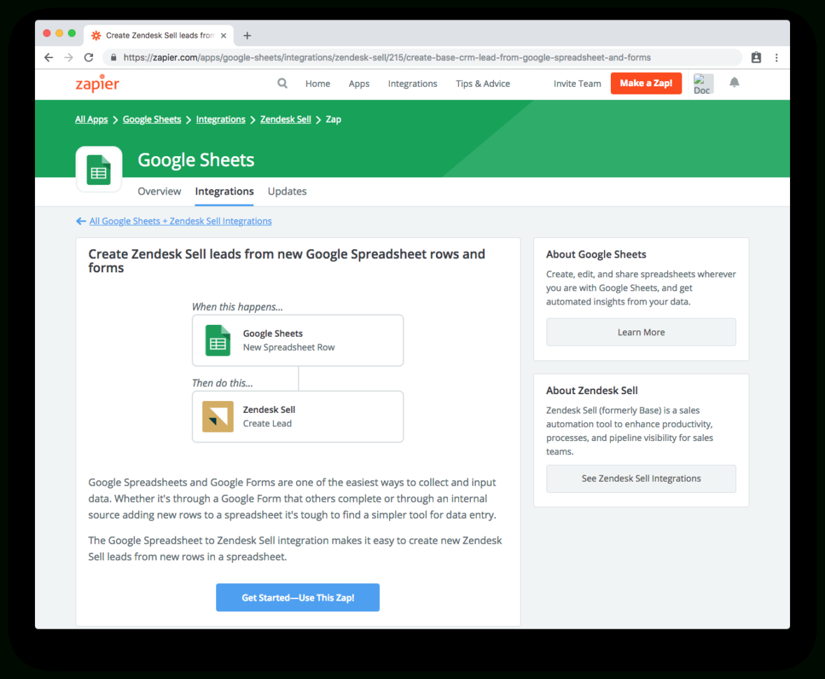 Sell Spreadsheets Online With Automatically Create Zendesk Sell Leads From Google Spreadsheets And