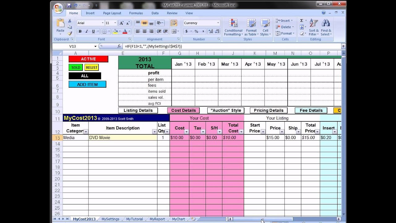 Selling Excel Spreadsheets With Ebay Spreadsheet Template Free  Austinroofing