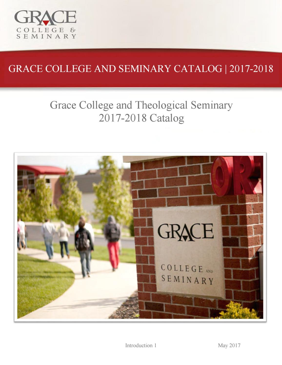 Seminary Spreadsheet 2017 Pertaining To Grace College  Seminary Academic Cataloggrace College  Issuu