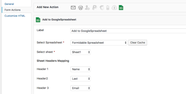 Send Form Data To Google Spreadsheet Throughout How To Integrate Google Spreadsheet With Formidable Forms  Webholics