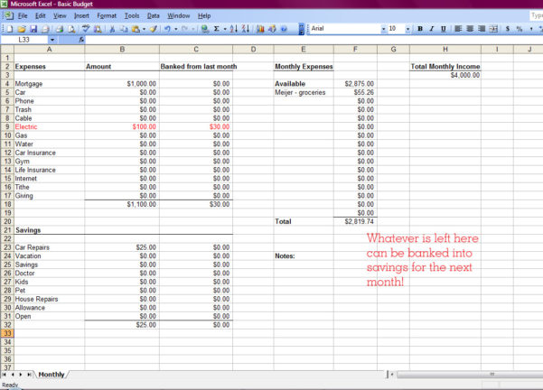 Setting Up A Budget Spreadsheet Pertaining To How To Set Up A Monthly Budget Spreadsheet Free  Homebiz4U2Profit