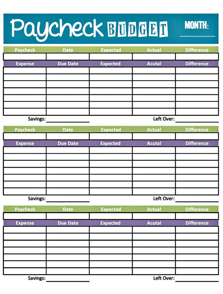 Setting Up A Budget Spreadsheet With Monthly Budget Worksheet Printable  Homebiz4U2Profit