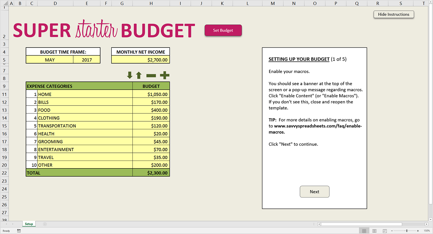 Setting Up A Personal Budget Spreadsheet For 10 Free Budget Spreadsheets For Excel  Savvy Spreadsheets